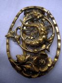 Art Nouveau Design Dress Clip with Water Dragon and Open Flower (SOLD)